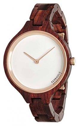 Kerbholz Damen-Armbanduhr Hinze Analog Quarz Holz