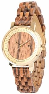laimer damen armbanduhr jenni aus zebranoholz