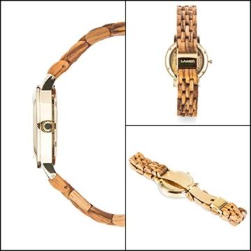 laimer damen armbanduhr jenni aus zebranoholz detail