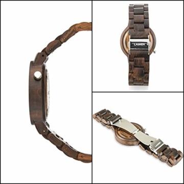 laimer damen armbanduhr marmo aus sandelholz detail