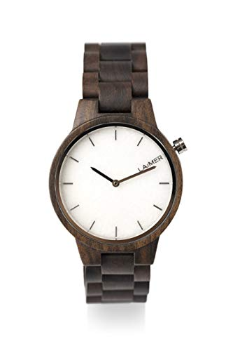 laimer damen armbanduhr marmo aus sandelholz vorne
