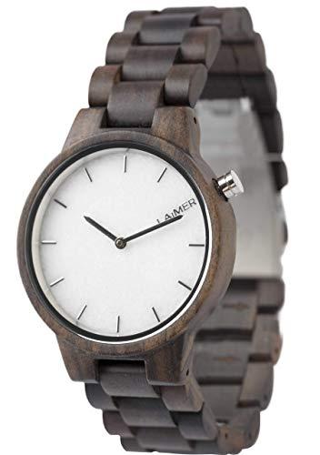 laimer damen armbanduhr marmo aus sandelholz