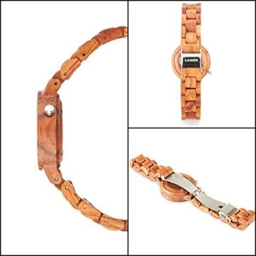 laimer damen armbanduhr marmo rose aus rosenholz detail