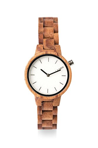 laimer damen armbanduhr marmo rose aus rosenholz vorne
