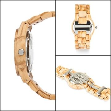 laimer herren armbanduhr rick aus olivenholz detail