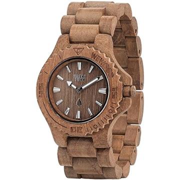 wewood damen analog armbanduhr mit holz armband seite