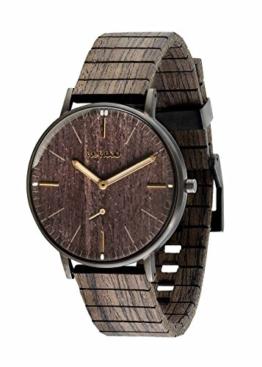 wewood herren analog armbanduhr mit holz armband