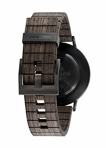 wewood herren analog armbanduhr mit holz armband hinten