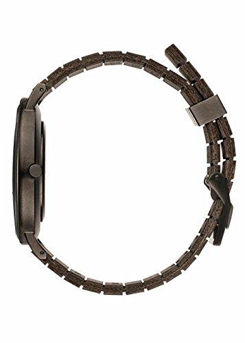 wewood herren analog armbanduhr mit holz armband seite
