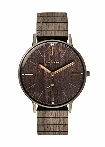 wewood herren analog armbanduhr mit holz armband vorne