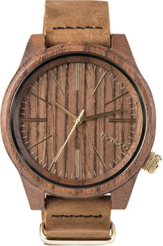 wewood torpedo nut leather herren holzuhr